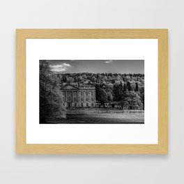 Chatsworth country house Framed Art Print