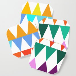 Triangles of Color Coaster