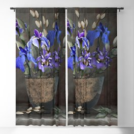 Japanese Iris and Willow Blackout Curtain