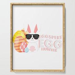 Egg Hunter Easter Bunny For Kids Gift Boy Girl Serving Tray