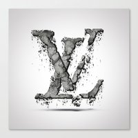 lv Canvas Prints featuring LV by Paul Trubas