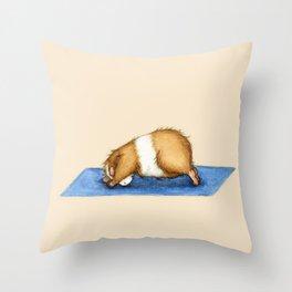 Yoguineas - Downward Facing Dog Throw Pillow