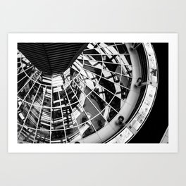 Looking down the dome Art Print