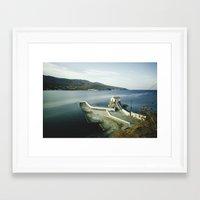greek Framed Art Prints featuring Greek landscape by MarioGuti
