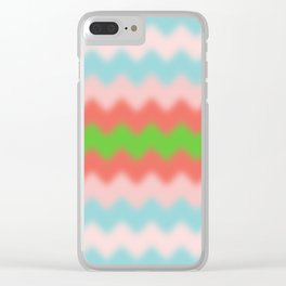 ZigZag-BLUR-BlueRedGreen - Living Hell Clear iPhone Case