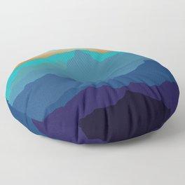 Blue Mountain Range Floor Pillow