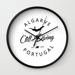 Cliff Jumping Shirt Portugal Cliff Diver TShirt Algarve Cliff Diving T Shirt Wall Clock