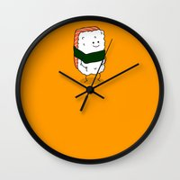 nori Wall Clocks featuring Foods Of The World: Japan by Studio14