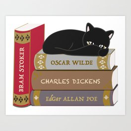 Dark literature meow Art Print