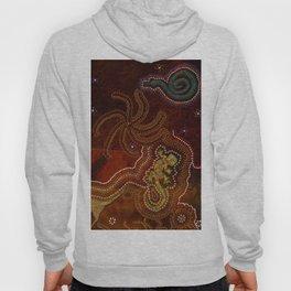 Desert Heat - Australian Aboriginal Art Theme Hoody
