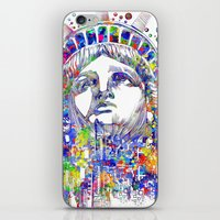 new york iPhone & iPod Skins featuring New York New York by Bekim ART