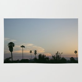 Venice Sunset (with Palm Trees) Rug