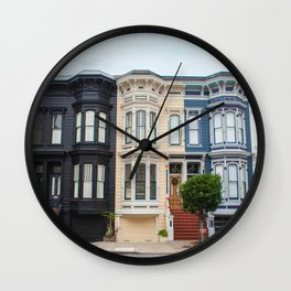 Colorful homes Wall Clock