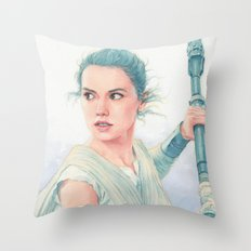 Rey watercolor Throw Pillow
