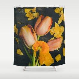Spring Tulip Flowers Shower Curtain