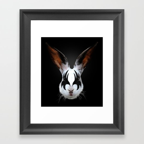Kiss of a Rabbit Framed Art Print
