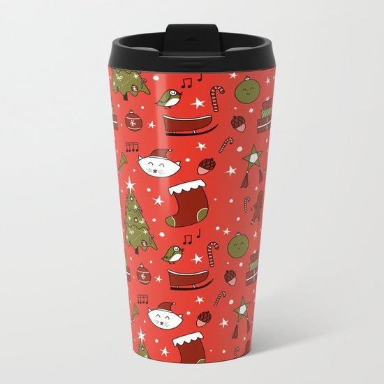 Merry Christmas Metal Travel Mug