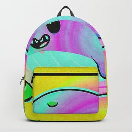 Glowing Neon Whale Fish Backpack