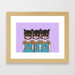 Triple Trouble Framed Art Print