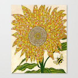 Georgia Sunflower Canvas Print
