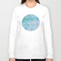 polka dots Long Sleeve T-shirts featuring Polka Dot Pattern 05 by Aloke Design
