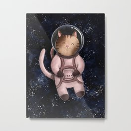 Astrocat Illustration Metal Print