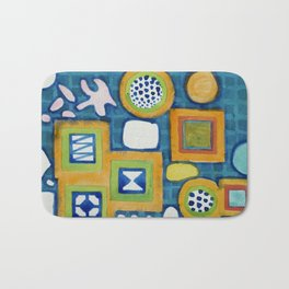 Cluster of Wall Objects Bath Mat