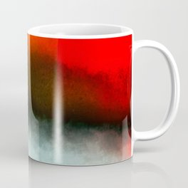 Red, Teal and White Abstract Coffee Mug