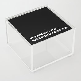 You are who you have been looking for Acrylic Box