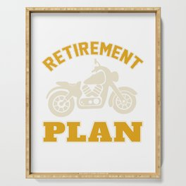 Retirement Plan - Motorcycle Serving Tray