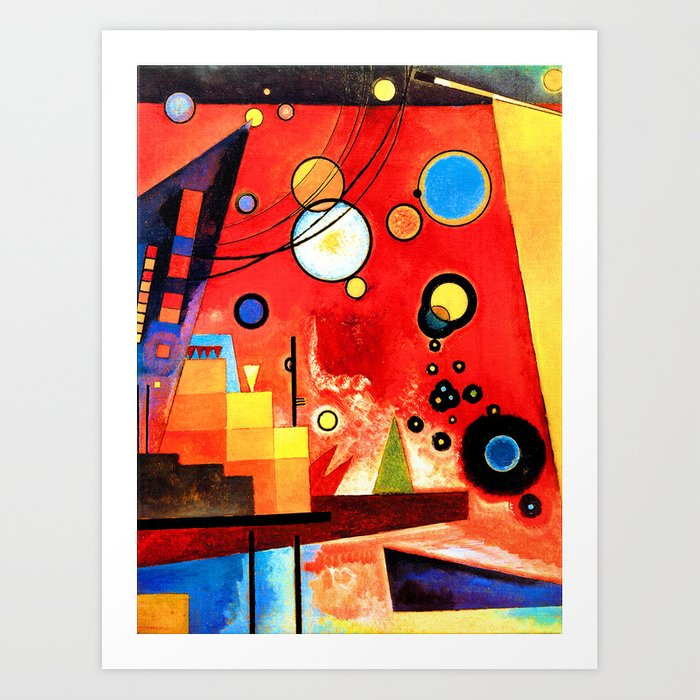 Wassily Kandinsky Heavy Red Abstract Art Art Print By Artexpressiondesign