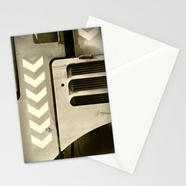 Road Roller Chevron 05 - Industrial Abstract Stationery Cards