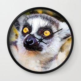 Lemur #lemur #animals Wall Clock