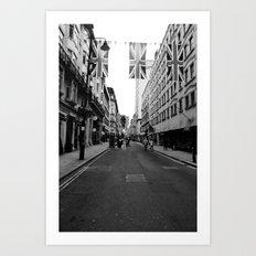 British Bunting,black&white Art Print