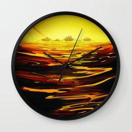 Titan NASA Space Travel Poster Futuristic Adventure Wall Clock