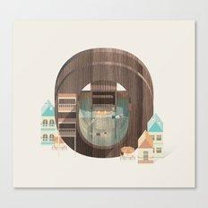 Resort Type - Letter O Canvas Print