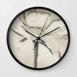 Monochromatic rose Wall Clock