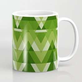 Geometric - Green Coffee Mug