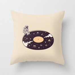 Cosmic Sound Throw Pillow