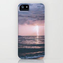 Lightning over the Strait of Georgia iPhone Case