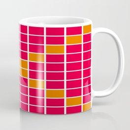Magenta and Orange Grid Coffee Mug