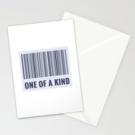 One of a kind - barcode quote Stationery Cards