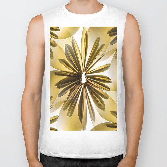 Retro Shiny Flowers Biker Tank