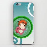ponyo iPhone & iPod Skins featuring Ponyo  by SamIAmTheSam