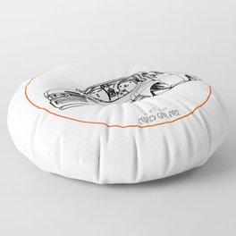 Crazy Car Art 0207 Floor Pillow