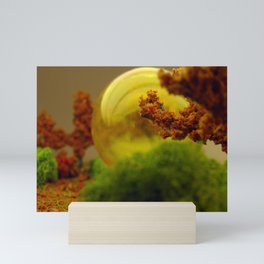 Utopian Landscape Yellow Mini Art Print