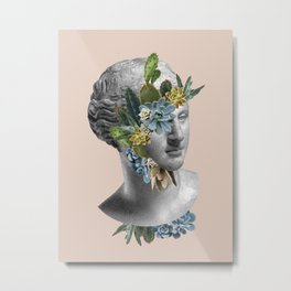 Cactus Face Metal Print