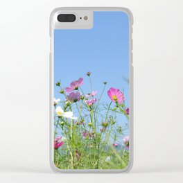 Colorful Cosmos Blue Sky Clear iPhone Case
