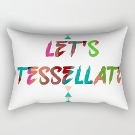 LET'S TESSELLATE Rectangular Pillow
