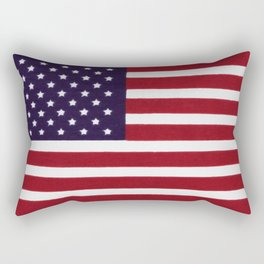 American flag with painterly treatment Rectangular Pillow